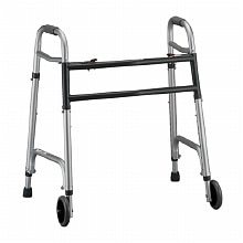 Nova Heavy Duty Folding Walker 5 inch Wheels