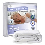 Protect-A-Bed PLUSH Velour top, dust mite & allergy barrier/waterproof mattress protector Queen