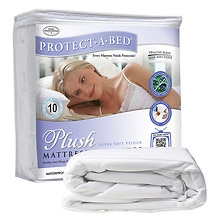 PLUSH Velour top, dust mite & allergy barrier/waterproof mattress protector, Full XL