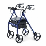 Hugo Elite Rolling Walker with Padded Seat Pacific Blue