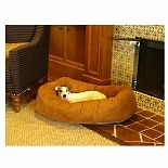 Majestic Pet Products Bagel Dog Pet Bed 32 inch Rust