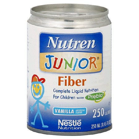 Nutren Junior Fiber Liquid Nutrition for Children Vanilla, 8.45 oz Cans, 24 pk