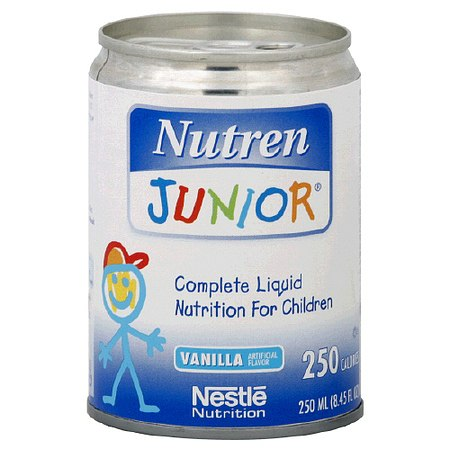 Nutren Junior Liquid Nutrition for Children Vanilla,8.45 oz Cans, 27 pk