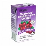 Resource Thickened Cranberry Juice Cocktail Honey Consistency 27 Pack
