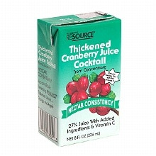 Resource Thickened Cranberry Juice Cocktail Nectar Consistency 27 Pack