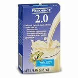 Resource 2.0 High Calorie High Protein Nutrition Drink Vanilla