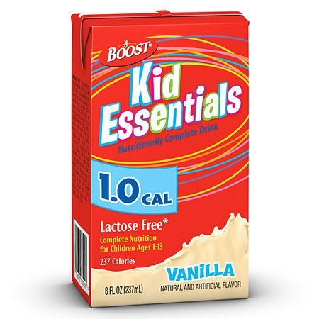 Boost Kid Essentials 1.0 Cal Medical Nutritional Drink Vanilla,8 oz Cartons, 27 pk