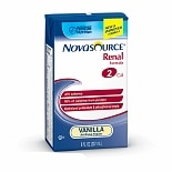 Novasource Renal Complete Nutrition Formula for Kidney Disease Vanilla