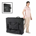 MHP SpaMaster Essentials 30-inch Wheeled Massage Table Carrying Case Black