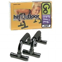 GoFit Push Up Bars with Foam Handles (Pair) Black
