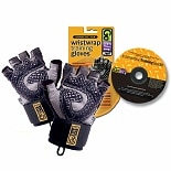Diamond-Tac Weightlifting Glove with Wrist Wrap Black Large