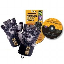 GoFit Diamond-Tac Weightlifting Glove with Wrist Wrap Black Large