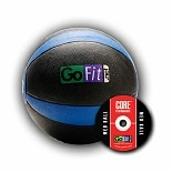 GoFit Ultimate 15lb Rubber Medicine Ball Black & Blue