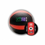 GoFit Ultimate 8lb Rubber Medicine Ball Black & Red