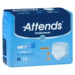 Attends Underwear Extra Moderate to Heavy Absorbency Large White
