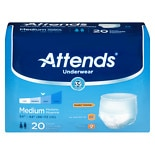 Attends Underwear Extra Moderate to Heavy Absorbency Medium White