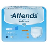 Attends Underwear Super Plus Maximum Absorbency Large 44 inch - 58 inch White