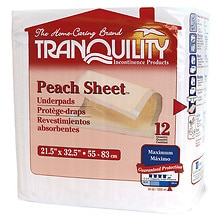 Tranquility Peach Sheet Underpad 21.5 x 32.5 inch