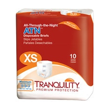 Tranquility ATN All- Through the Night Disposable Brief XS