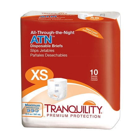 Tranquility ATN All- Through the Night Disposable Brief X-SMALL