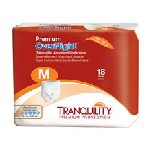 Premium OverNight Disposable Underwear, Medium