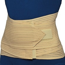 Lumbo-Sacral Support with Abdominal Uplift, Beige Large