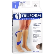 Truform Unisex Firm Closed Toe Below Knee Stockings 2XL