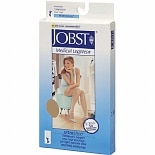 Jobst Women's UltraSheer Knee High Hosiery (Moderate) 15-20 mm, LargeLarge