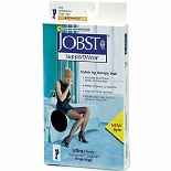 Jobst Women's UltraSheer Thigh High Hosiery (Mild) 8-15 mm Black