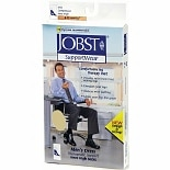 Jobst Men's Dress Knee High Socks (Mild) 8-15mm Khaki