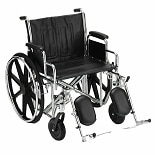 24 inch Steel Wheelchair Detachable Desk Arms and Elevating Legrests