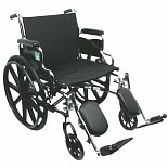 Nova Wheelchair with Detachable Desk Arms and Elevating Legrests 22 Inch Steel