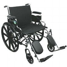 22 inch Steel Wheelchair with Detachable Desk Arms and Elevating Legrests