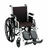 18 inch Steel Wheelchair with Detachable Desk Arms and Elevating Footrests5180SE