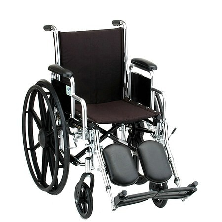 Nova Wheelchair with Detachable Desk Arms and Elevating Footrests 18 Inch Steel