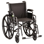 Nova 16 inch Steel Wheelchair with Detachable Arms and Elevating Legrests 5160SE