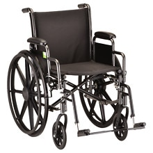 16 inch Steel Wheelchair with Detachable Arms and Elevating Legrests, 5160SE