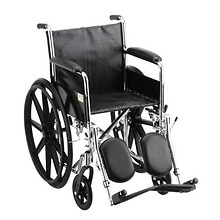 18 inch Steel Wheelchair Fixed Arms and Elevating Leg Rests, 5080SE