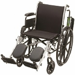 16 inch Steel Wheelchair Fixed Arms and Elevating Leg Rests5060SE