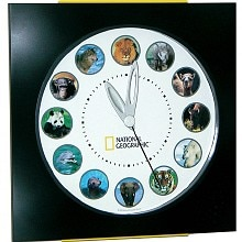 National Geographic Animal Clock Gift