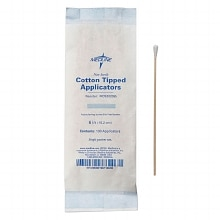 Medline Cotton Tipped Applicators Non-Sterile, 100 per bag