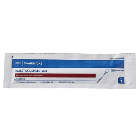 Medline Providone/Iodine Swabstick Singles 50 per box
