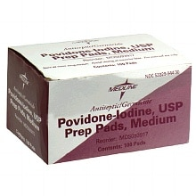 Medline Providone/Iodine Prep Pads Medium 100 per box
