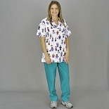 Medline Scrubs Scrub Pant Ladies Slant Pocket Peacock Peacock