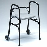 TFI Medical SpaceSaver Foldable Seat Walker with Wheels