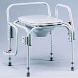 TFI Medical Drop Arm Commode, Elongated Seat