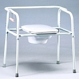 TFI Medical Bariatric Heavy Duty Commode with Elongated Seat