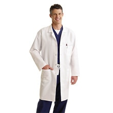 Medline Scrubs Labcoat Unisex Knee Length White