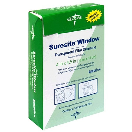 Medline Suresite Window Transparent Film Dressing