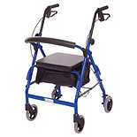 Essential Medical Featherlight Demi 4 Wheel Walker Blue